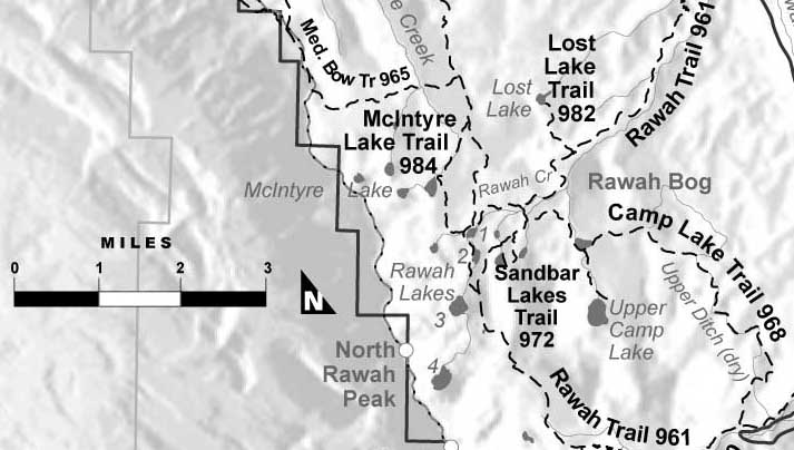 Sandbar Lakes Trail map